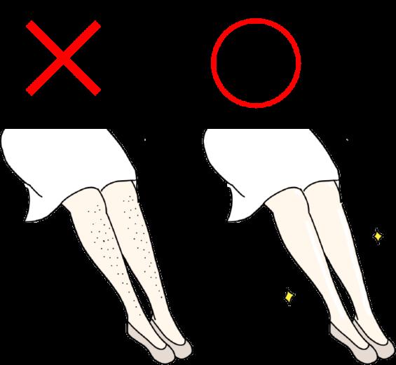 女性の足の毛